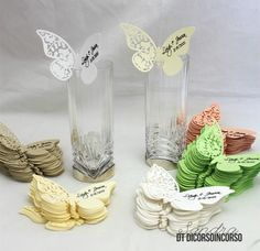 Segnaposto matrimonio e due tutorial per la Silhouette Cameo Butterfly Wedding Theme, Butterfly Birthday Party, Wedding Gifts For Guests, Wedding Favors, Wedding Invitations, Wedding Tree Guest Book, Guest Book Tree, Diy Wedding Backdrop, Indian Wedding Cards