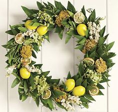 lemon and sage - fragrant way to enter a lovely home - fresh