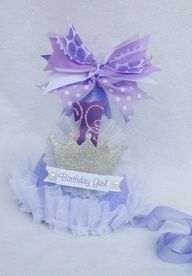 sofia the first princess birthday party hat in light purple