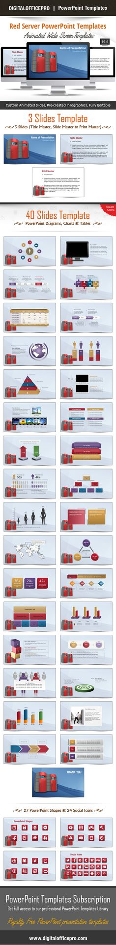 Impress and Engage your audience with Red Server PowerPoint Template and Red Server PowerPoint Backgrounds from DigitalOfficePro. Each template comes with a set of PowerPoint Diagrams, Charts & Shapes and are available for instant download.
