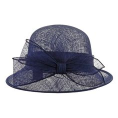 5b5189c5 1920s Style Sinamay Hat in Navy | Flapper & Great Gatsby Style Headpieces |  Art Deco
