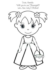 29 Best flower girl coloring books images