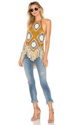 Free People Summer Of Love Halter en Multi Crochet Bikini, Crochet Top, Revolve Clothing, Summer Of Love, Crochet Clothes, Skinny Legs, Boho Fashion, Free People, Suits