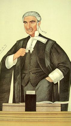 """Vanity Fair Caricature of the Rt Hon Sir Edward Fry. Judge Caption - """"Specific Performance"""""""