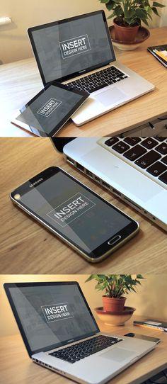 Free Photo-realistic Mock-up pack Web Design, Website Design Layout, Tool Design, Web Mockup, Mockup Templates, Business Card Psd, Free Photoshop, Mock Up, Business Inspiration