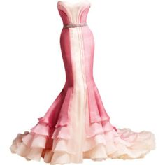 Versace pink mermaid dress.