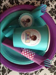 Doc Mcstuffins Party Cups Labels
