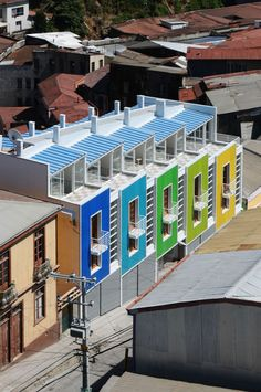 Chilean firm, Rearquitectura, has designed the Lofts Yungay II in Valparaíso, Chile.