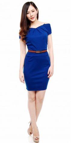 Cute blue dress plus cute belt to go with equals cute outfit