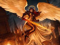 ArtStation - Flameblade Angel, Lucas Torquato