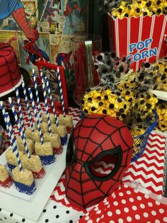 Spiderman party ideas, spiderman party, spiderman centerpieces, superhero party…