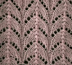 Lovely lace stitch from knittingfool.com