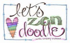 lindsay ostrom: Weekley Wednesday Workday.... zen doodles....