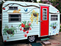 Trailer #9 by dog.happy.art, via Flickr  vintage trailer camper glamping