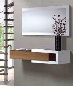 mueble de entrada recibidor salon comedor sala oficina color nogal fabricacin nacional