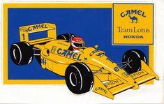 Senna Racing Wreath Decal Sticker logo Brazil Honda Racing F1 Pair