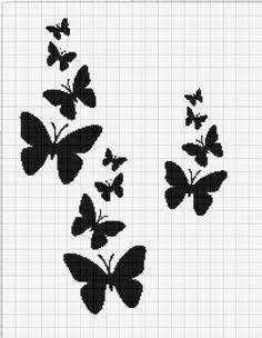 Cross Stitch Sea, Butterfly Cross Stitch, Cross Stitch Charts, Cross Stitching, Cross Stitch Embroidery, Embroidery Patterns, Modern Cross Stitch Patterns, Cross Stitch Designs, Graph Crochet