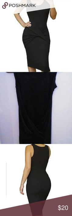 Sleeveless sexy bodycon dress sleeveless sexy bodycon midi bandage party evening dress size large but fits more like a medium brand new never worn no tags allegrace Dresses Midi