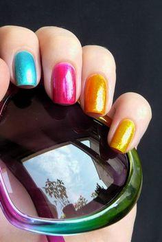 rainbow nails @Sally McWilliam McWilliam McWilliam Hansen Australia #EasterNailLooksforSallyHansenAu