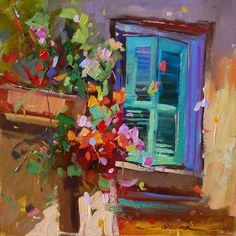 Paintings of France and Italy, Flowers and Cats
