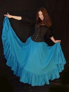 Egyptian Blue wench skirt