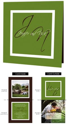 The Initials Is a Classically Designed Square Folded Invitation With Room For 2 Photos.