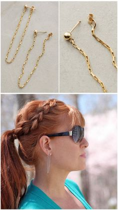 DIY Anthropologie Inspired Chained Hoop Earrings Tutorial from...