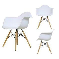 CHAISE Lot de 4 Chaise en Plastique Inspiration DAW Eames