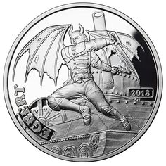 in a Capsule 1 oz Silver Angels /& Demons Steampunk Collection Demon Egbert