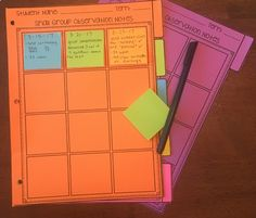 Small Group Observation Notes Tracker--great way to keep track of anecdotals and transfer them to students' files or portfolios. Small Group Organization, Teacher Organization, Organization Ideas, Middle School Ela, Beginning Of School, Law School, High School, Anecdotal Notes, Data Binders