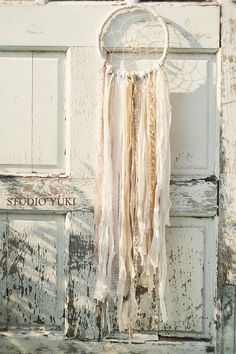 Bohemian Dreamcatcher White Wedding Gift Hippie by Studio Yuki, $67.00