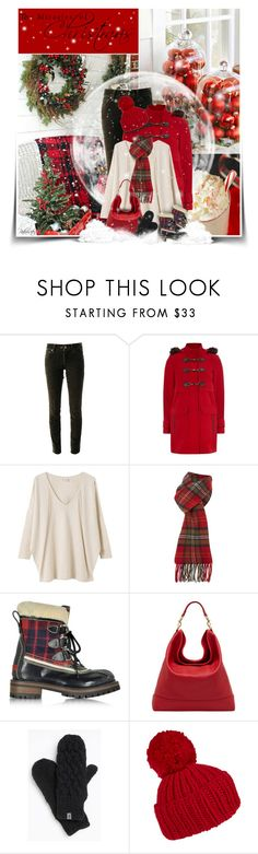 """""""❅The Miracle Of Christmas❅"""" by pinkroseten ❤ liked on Polyvore featuring 7 For All Mankind, Dorothy Perkins, EAST, GLEN PRINCE, Dsquared2, Mulberry, The North Face and Eugenia Kim"""