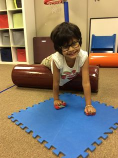 Weight bearing activities to increase upper extremity strength and control - essential for fine motor development.