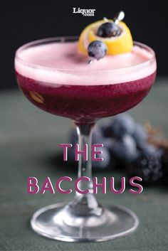 Delicious Drinks In Season: The Bacchus Cocktail--Grapes and blackberries team up to create this frothy coupe.