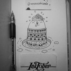 #inktober #inktoberkostolom3000 #myart #my_art #mywork #myillustration #mydrawing #art #artwork #art_we_inspire #artoftheday #illustration #inspiration #seal #fish#draw • #kostolom3000 #AnnaAlekseeva