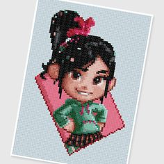 PDF Cross Stitch pattern 0011.Vanellope Wreck It by PIXcross