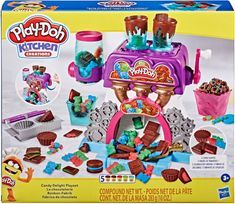 Play Doh Knete, Hasbro Play Doh, Play Doh Colors, Play Doh Kitchen, Mermaid Barbie, Candy Factory, Diy Playhouse, Get Free Stuff, Christmas Gifts For Kids