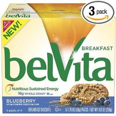 Belvita Breakfast Biscuit, Blueberry, 8.8-Ounce (Pack of 3), (grocery)