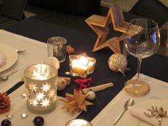 Tischdekoration: Sonne Mond und Sterne  Table decoration: Sun, moon and stars