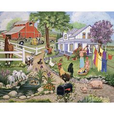 Spring On The Farm 500 Piece Jigsaw Puzzle