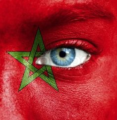 Moroccan flag for face