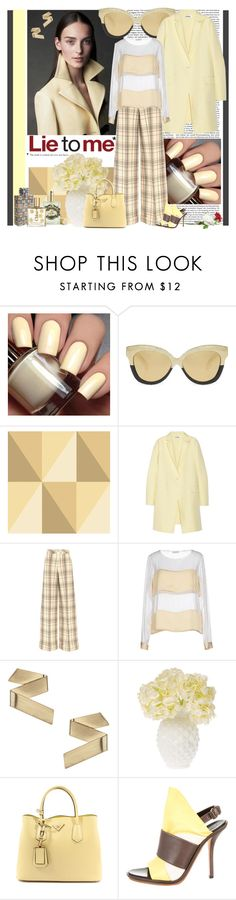 """""""lie to me"""" by fashion-mariquita-camy ❤ liked on Polyvore featuring Linda Farrow, Cole & Son, Jil Sander, Delpozo, Dries Van Noten, Topshop, Cultural Intrigue, Prada, Balenciaga and Burberry"""