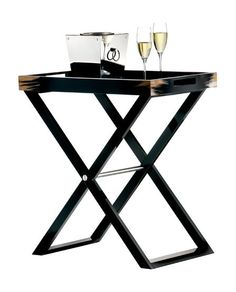 Butler Tray Table Black