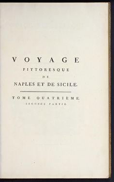 Voyage pittoresque, ou, Description des royaumes de Naples et de Sicile