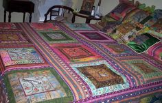 Quilt As You Go Log Cabin Quilt   FaveQuilts.com