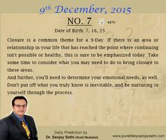 #Numerology‬ predictions for 9th December'15 by Dr.Sanjay Sethi-Gold Medalist and World's No.1 #AstroNumerologist.