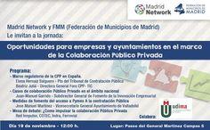 """Te invitamos a la jornada """"Oportunidades para empresas y ayuntamientos en el marco de la Colaboración Público Privada"""". http://udima.es/es/impulsando-sinergias-empresa-administracion.html"""