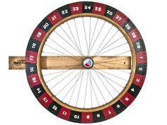 Vintage Handmade Carnival Game Wheel - Relique