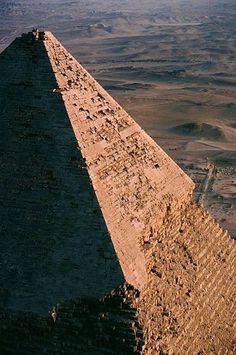 Summit of the pyramid of Khafre, Pyramids of Giza, Cairo, Giza Governorate, Egypt.