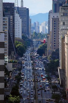 Avenida Paulista - one of the most important avenues in São Paulo, Brazil. Near to my house. Places Around The World, Travel Around The World, Around The Worlds, Great Places, Places To See, Beautiful Places, Brasil Travel, Les Continents, Paulistano